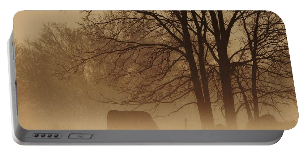 Morning Fog Portable Battery Charger featuring the photograph Early Morning Fog 002 by Robert ONeil