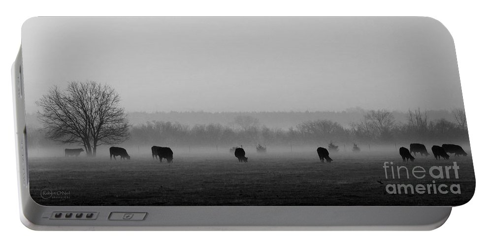 Morning Fog Portable Battery Charger featuring the photograph Early Morning Fog 005 by Robert ONeil