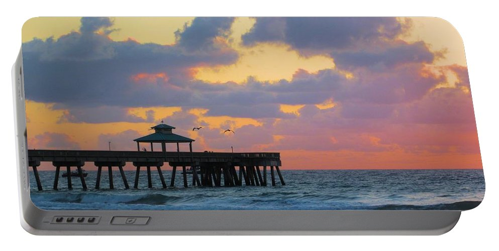 Pier Portable Battery Charger featuring the photograph Early Morning Pier by MTBobbins Photography
