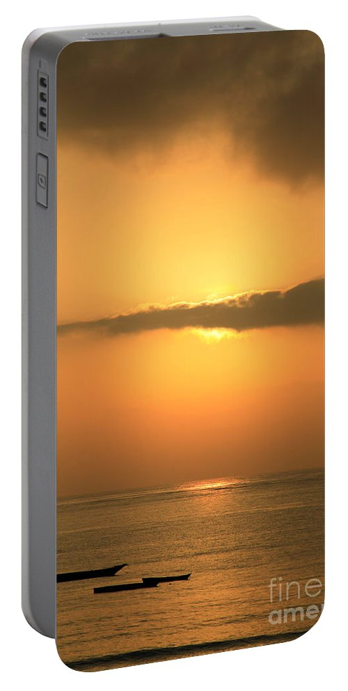 Africa Portable Battery Charger featuring the photograph Early Morning Sunrise by Deborah Benbrook