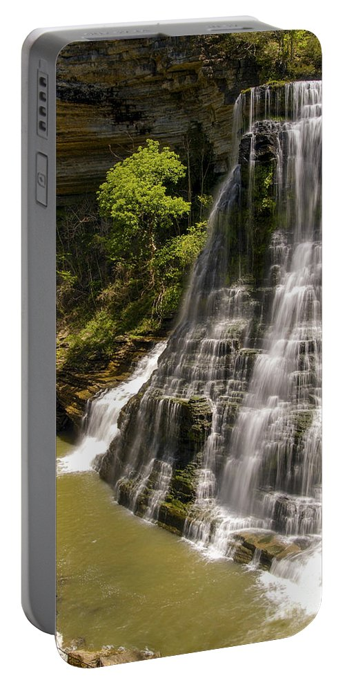 Burgess Falls State Park Portable Battery Charger featuring the photograph Early Spring by Bob Phillips
