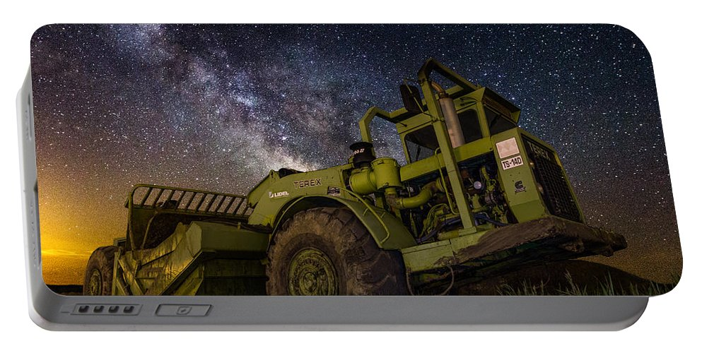 Eartmover Portable Battery Charger featuring the photograph Earth Mover by Aaron J Groen