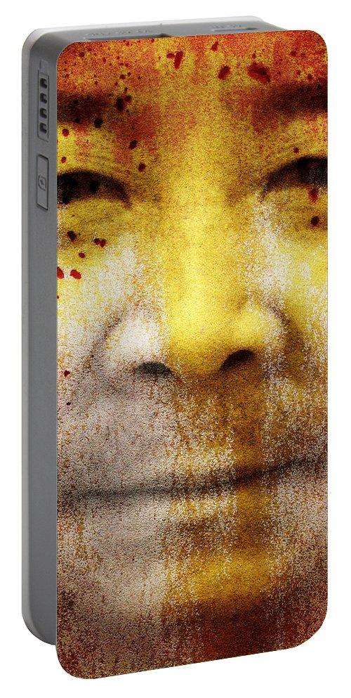 Brett Portable Battery Charger featuring the digital art Earthkeeper by Brett Pfister