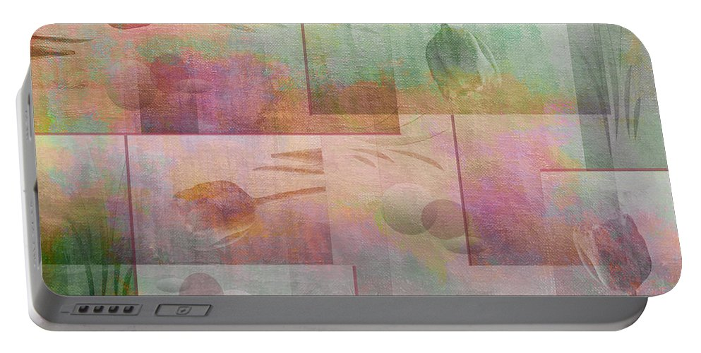 Abstract Portable Battery Charger featuring the photograph Earthly Garden by Linda Dunn