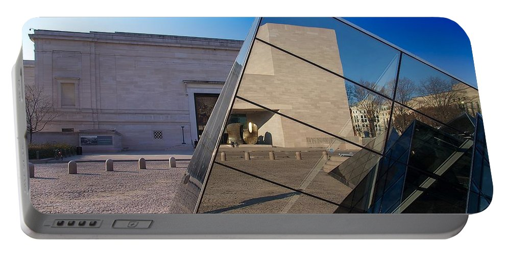 National Gallery Of Art Portable Battery Charger featuring the photograph East Meets West by Stuart Litoff