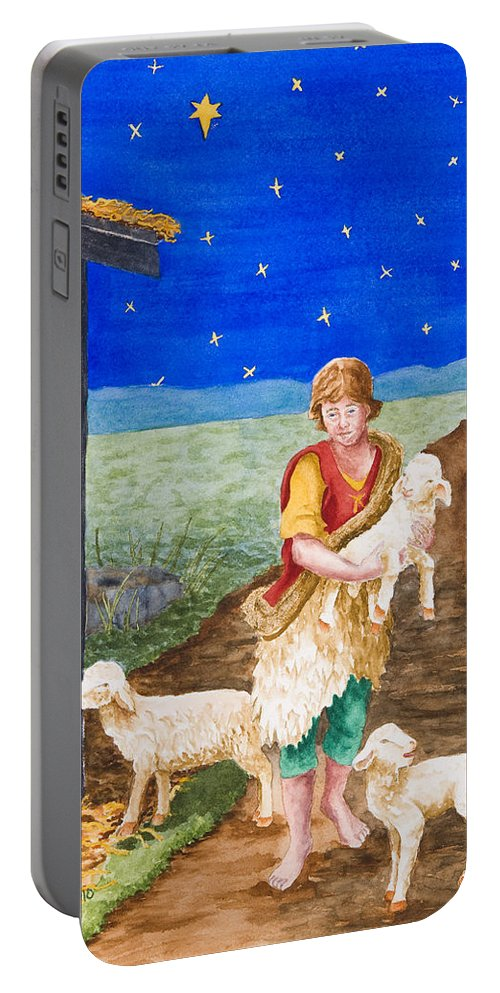Savior Portable Battery Charger featuring the painting Eastern Star by Rhonda Leonard