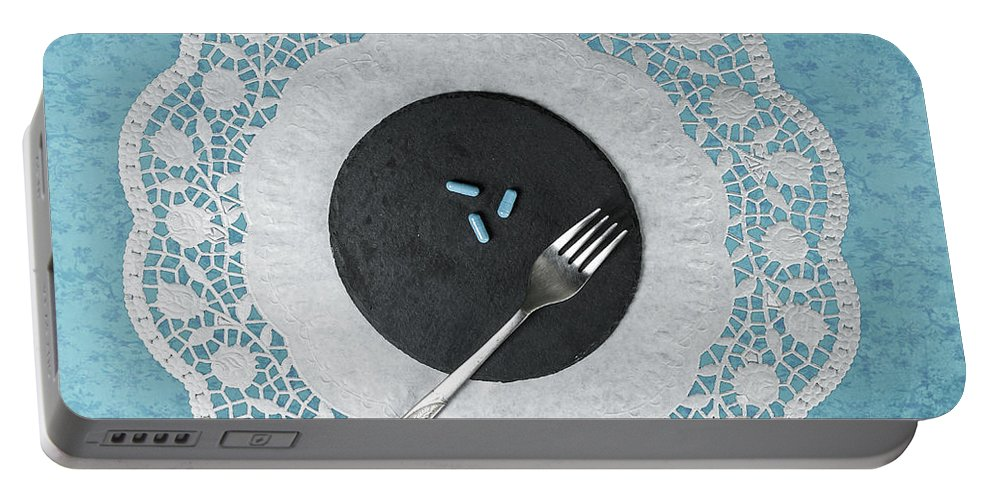 Pill Portable Battery Charger featuring the photograph Eating Pills by Joana Kruse