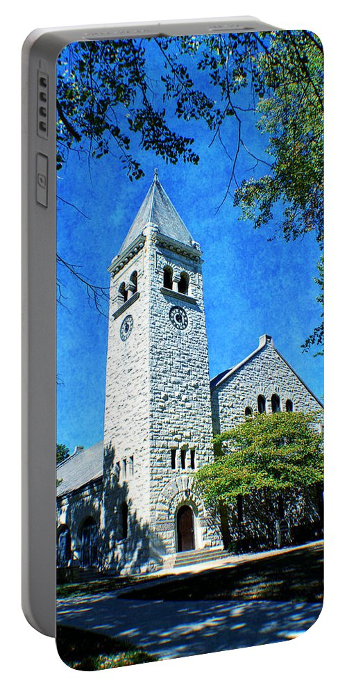 Eaton Portable Battery Charger featuring the photograph Eaton Chapel by Deena Stoddard