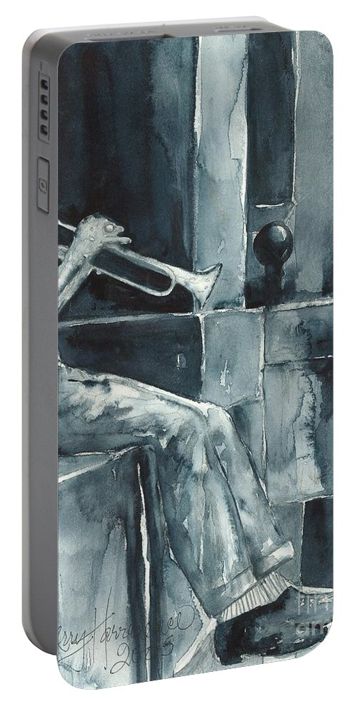 Original Wc 15x12 Portable Battery Charger featuring the painting Echo Of The Spirit by Sherry Harradence