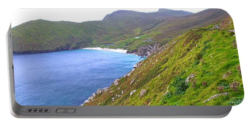Achill Portable Battery Charger featuring the photograph Edge Of The World by Charlie and Norma Brock