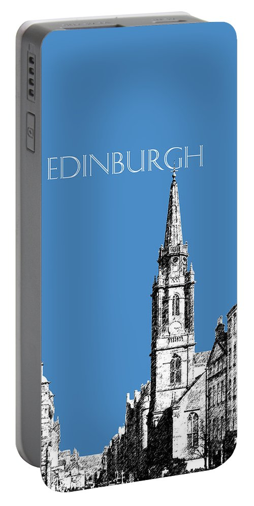 Architecture Portable Battery Charger featuring the digital art Edinburgh Skyline The Royal Mile - Slate by DB Artist