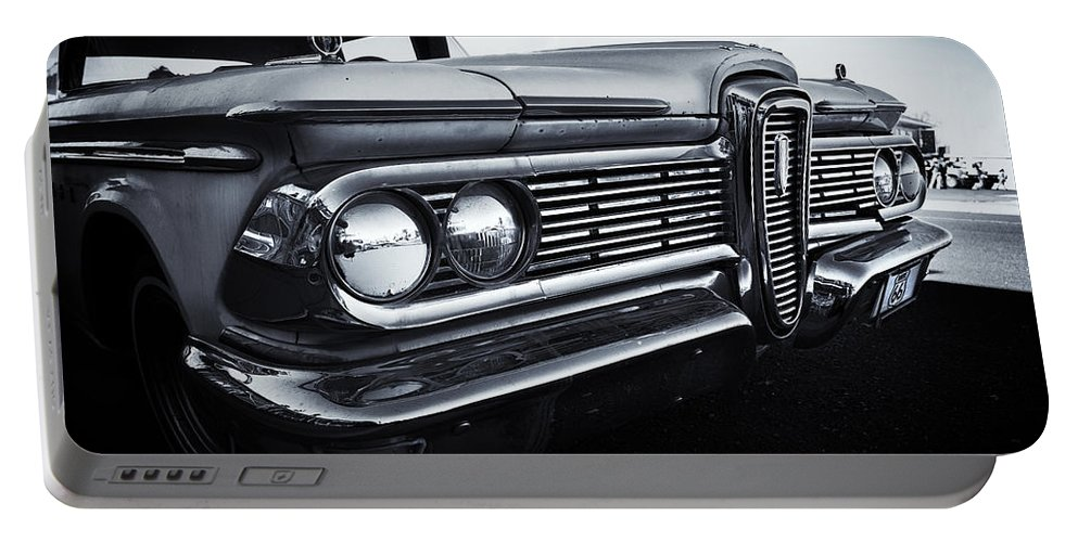 Car Portable Battery Charger featuring the photograph Edsel by Dave Hare