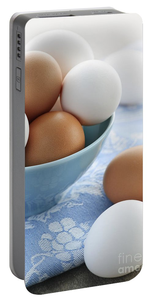 Eggs Portable Battery Charger featuring the photograph Eggs In Bowl by Elena Elisseeva