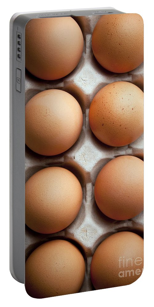 Carton Portable Battery Charger featuring the photograph Eggs by Tim Hester
