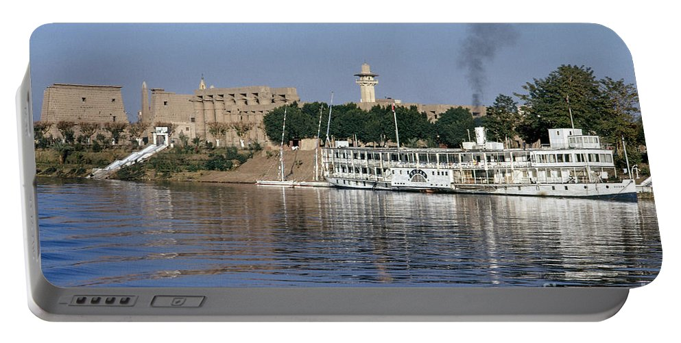 1975 Portable Battery Charger featuring the photograph Egypt - Nile Steamboat by Granger