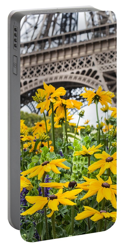 Eiffel Portable Battery Charger featuring the photograph Eiffel Flower by Nigel R Bell