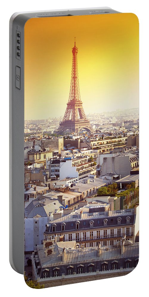 Eiffel Tower Portable Battery Charger featuring the photograph Eiffel Tower by Chevy Fleet