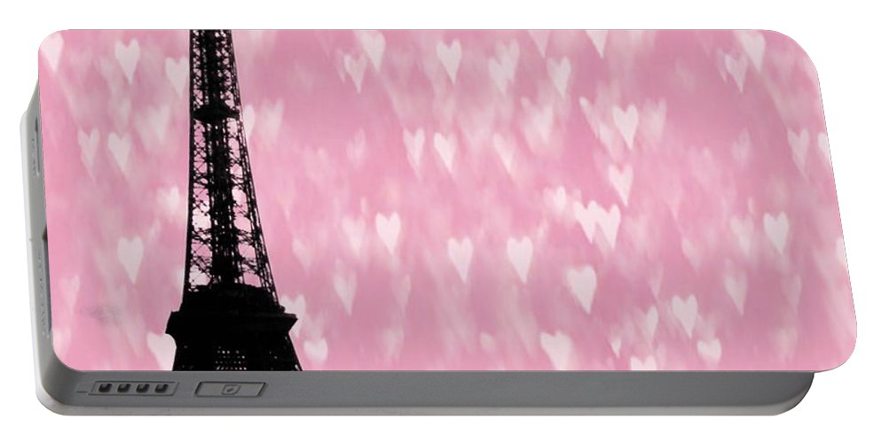 Eiffel Tower Portable Battery Charger featuring the photograph Eiffel Tower - Love In Paris by Marianna Mills