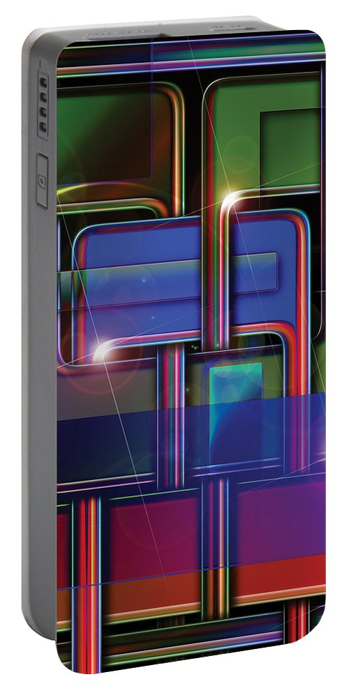 Abstract Portable Battery Charger featuring the digital art Eight by James Kramer