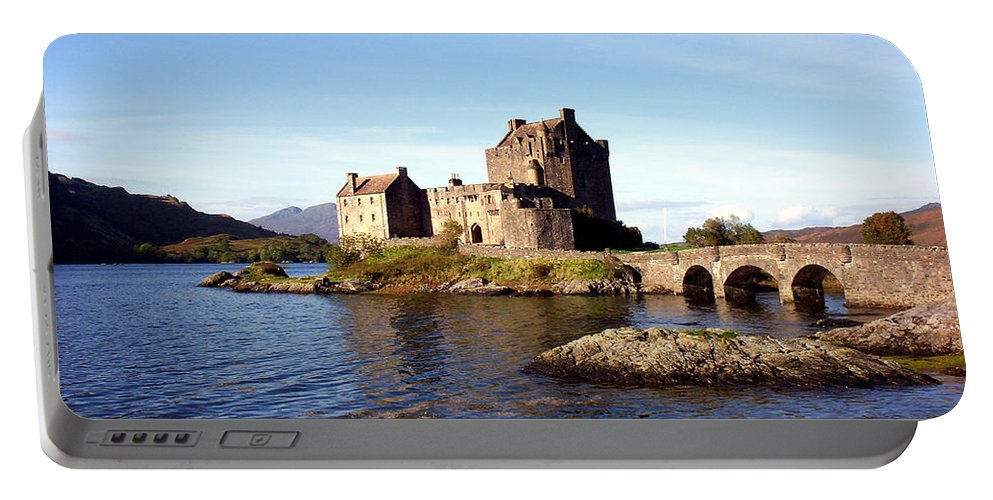 Clan Macrae Portable Battery Charger featuring the photograph Eilean Donan Castle Kintail Scotland by Rodger Insh