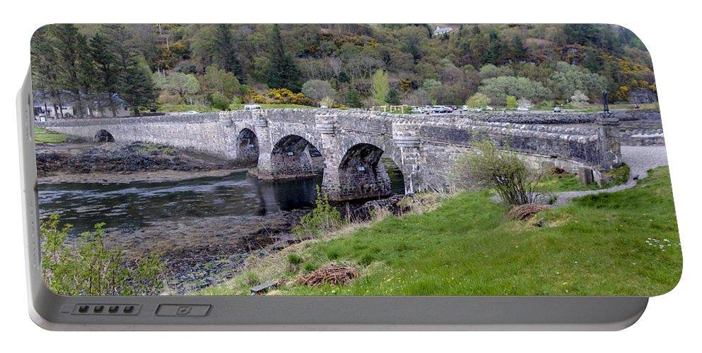Eilean Donan Castle Portable Battery Charger featuring the photograph Eilean Donan Castle - 8 by Paul Cannon
