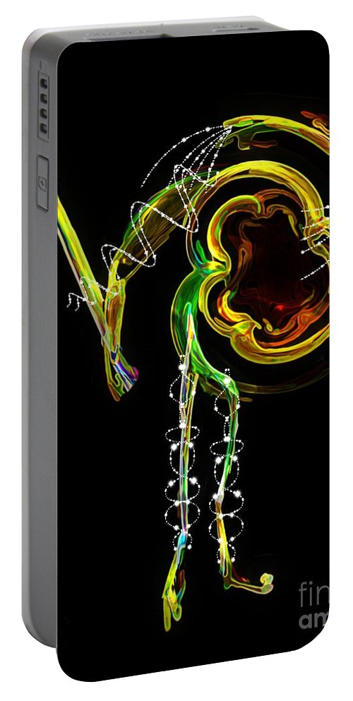 Matador Portable Battery Charger featuring the digital art El Asesino En Su Traje De Luces by RC DeWinter