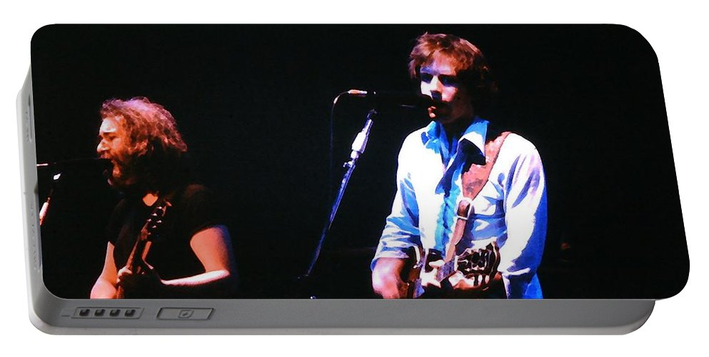 Grateful Dead Portable Battery Charger featuring the photograph The Grateful Dead 1980 Capitol Theatre by Susan Carella