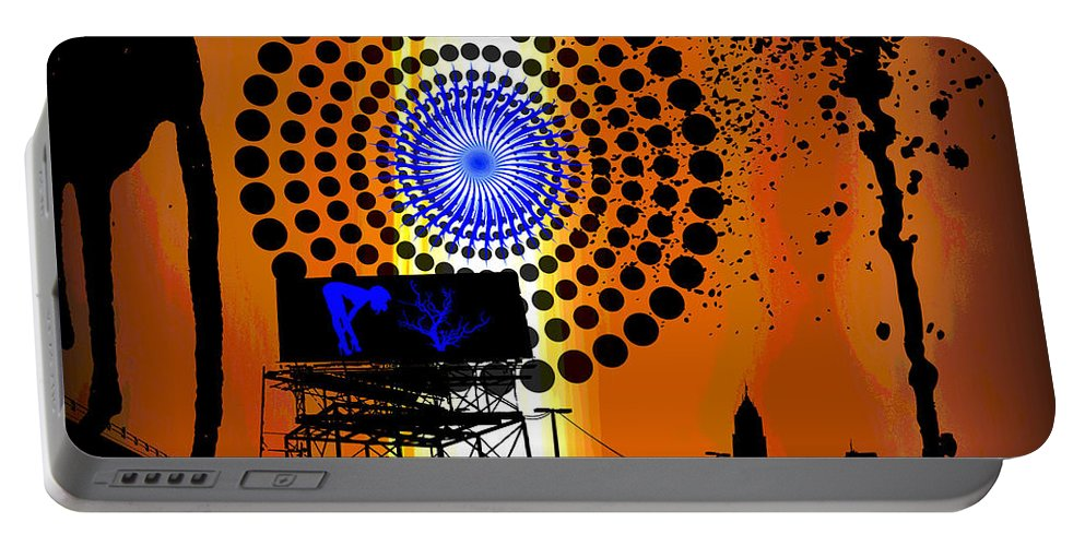 Electric Portable Battery Charger featuring the digital art Electric Avenue by Michael Damiani