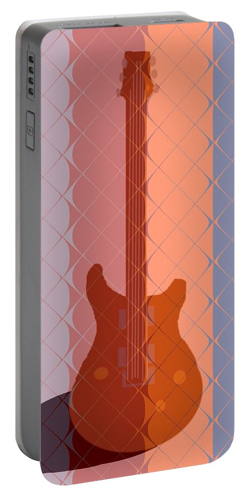 Guitar Portable Battery Charger featuring the painting Electric Guitar Solo by Pharris Art