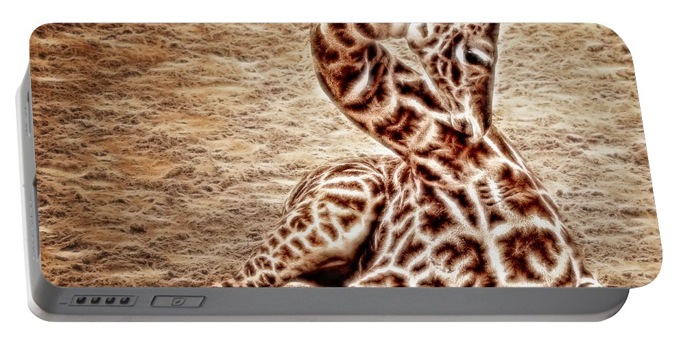 Zoo Portable Battery Charger featuring the photograph Elegant Infant by Lucy VanSwearingen