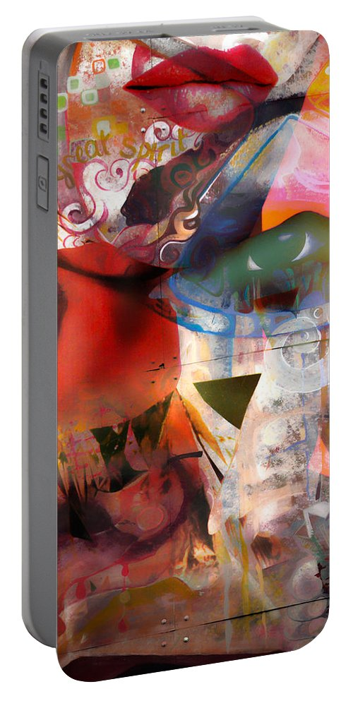 Abstract Portable Battery Charger featuring the photograph Elements Of Estrogen by The Artist Project