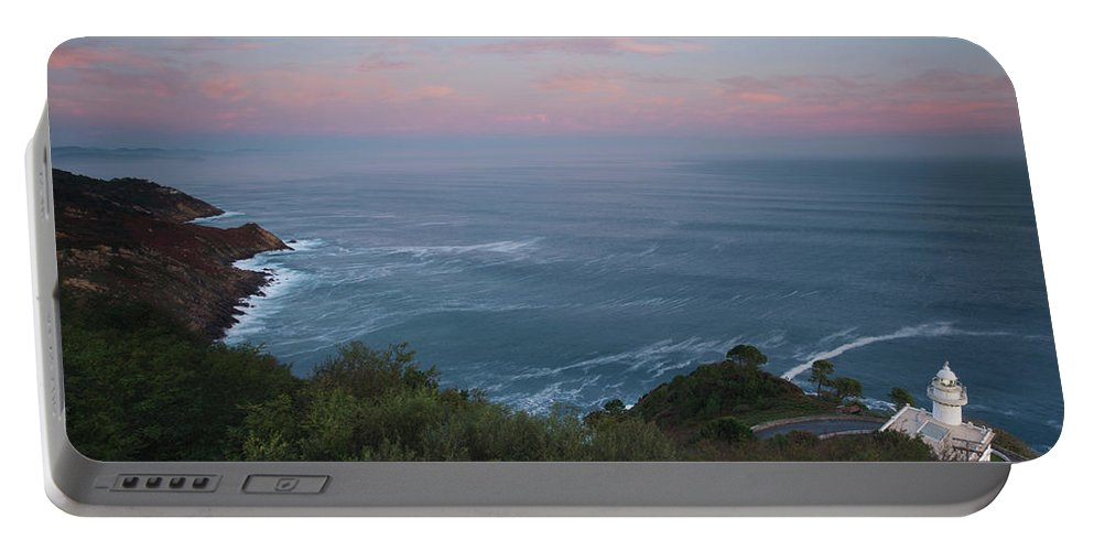 Photography Portable Battery Charger featuring the photograph Elevated View Of Monte Igueldo by Panoramic Images