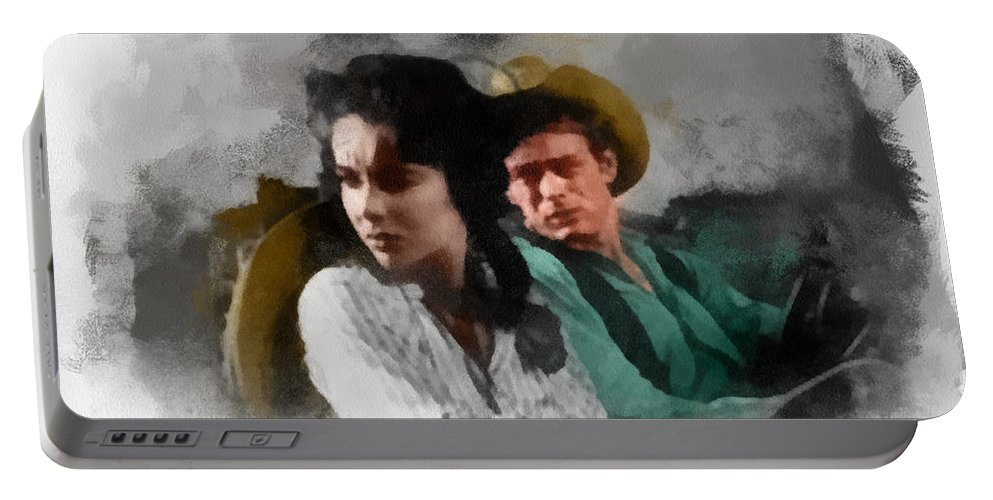Wright Portable Battery Charger featuring the digital art Elizabeth And James - Giant by Paulette B Wright