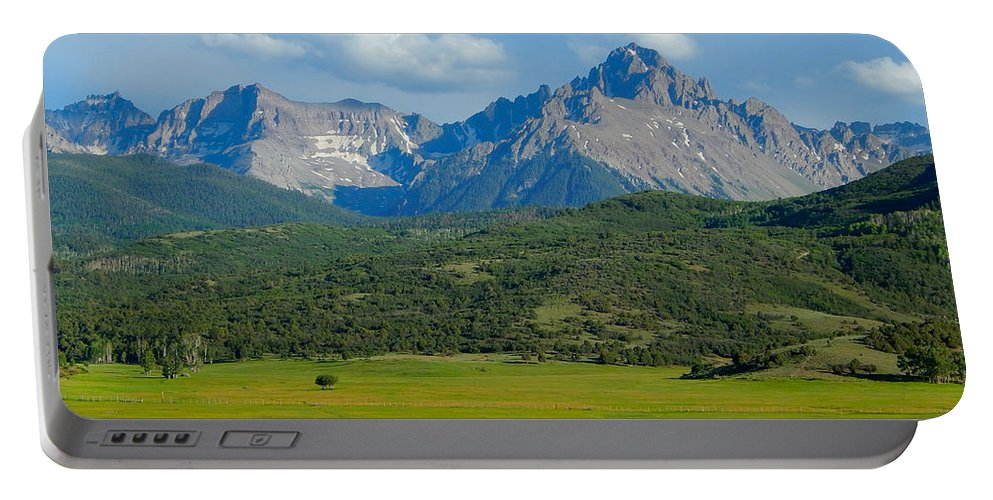 Photo Portable Battery Charger featuring the photograph Elk Below Mount Sneffels by Dan Miller