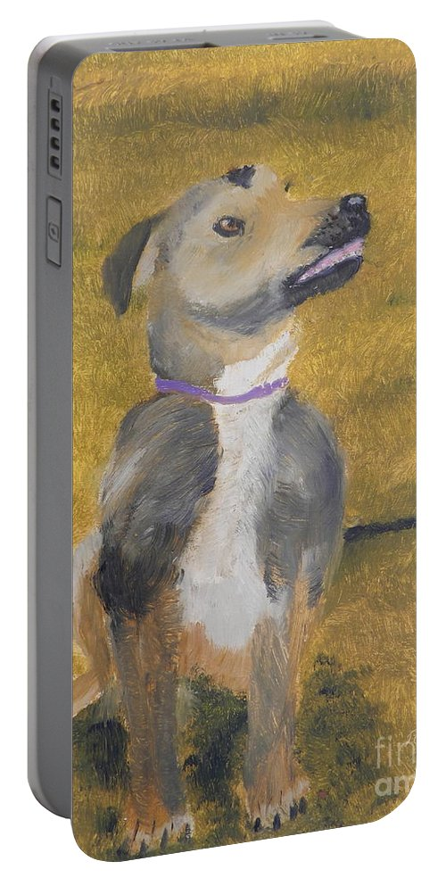 Impressionist Portable Battery Charger featuring the painting Ella by Pamela Meredith