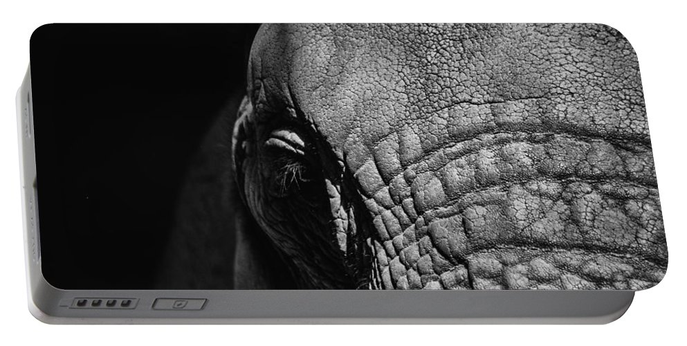 Elephant Portable Battery Charger featuring the photograph Ellie Up Close by Karol Livote