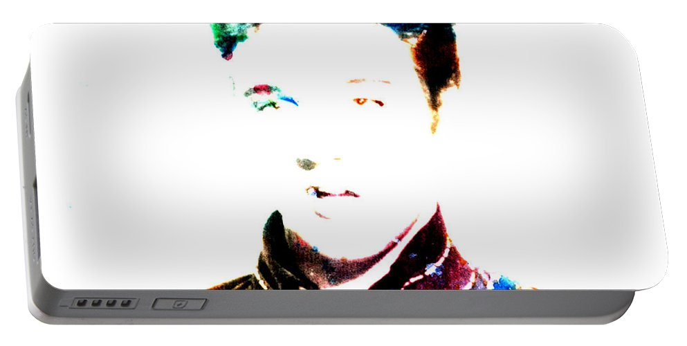 Elvis Presley Portable Battery Charger featuring the digital art Elvis Presley by Brian Reaves
