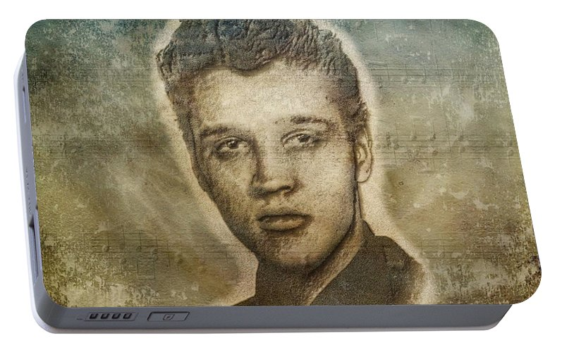 Elvis Presley Portable Battery Charger featuring the photograph Elvis Presley by Dan Sproul