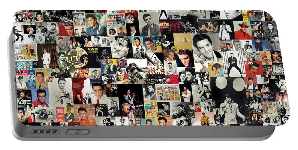 Elvis Presley Portable Battery Charger featuring the digital art Elvis The King by Zapista OU