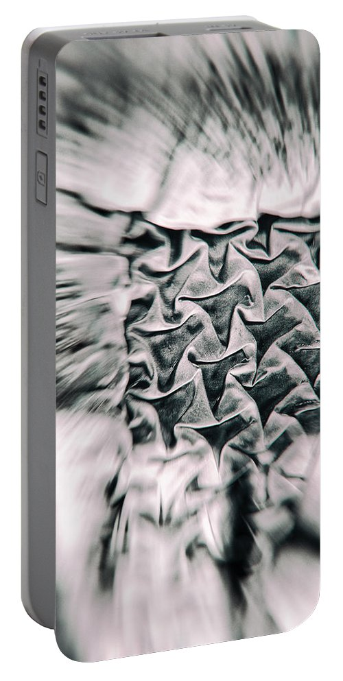 Abstract Portable Battery Charger featuring the photograph Embedded Flight by Scott Wyatt