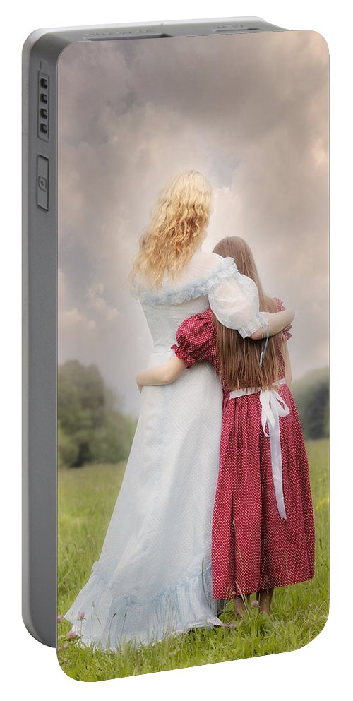 Girl Portable Battery Charger featuring the photograph Embrace by Joana Kruse