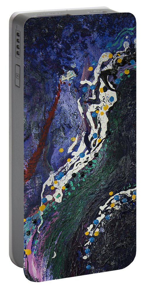 Embraced Aura Portable Battery Charger featuring the painting Embraced Aura by Doug LaRue