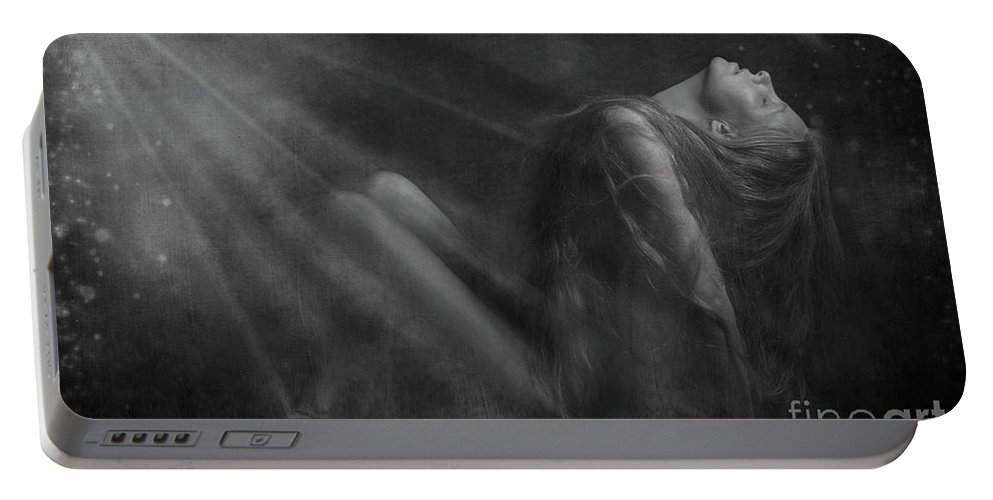 Festblues Portable Battery Charger featuring the photograph Embraced By The Light.. by Nina Stavlund