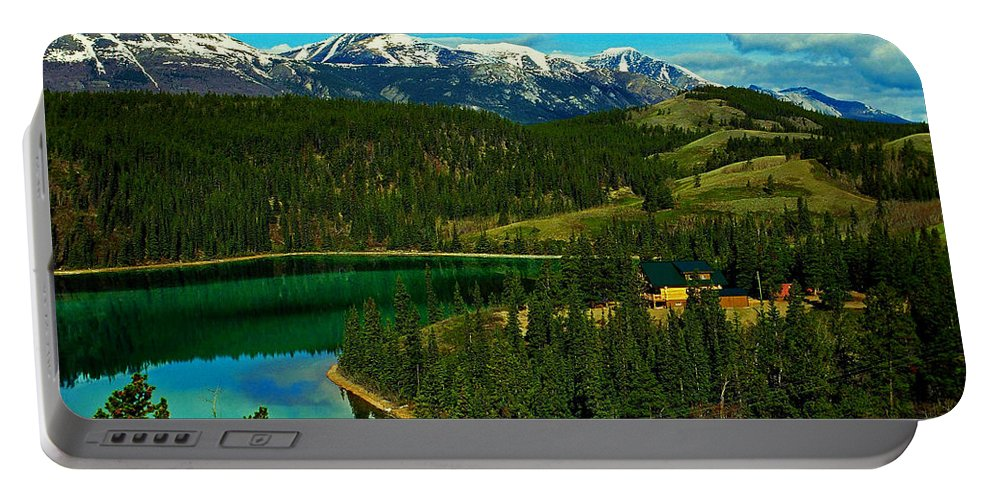 Emerald Portable Battery Charger featuring the photograph Emerald Lake - Yukon by Juergen Weiss