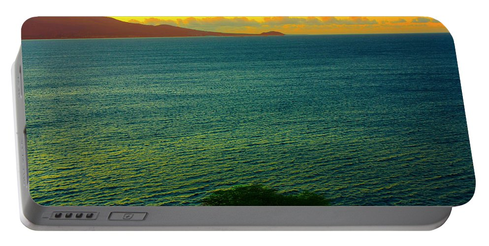Countryside Portable Battery Charger featuring the photograph Emerald Sea by Stephen Edwards