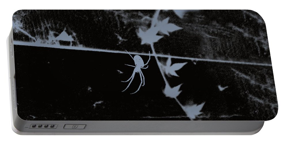 Spider Portable Battery Charger featuring the photograph Emphasis From The Series The Elements And Principles Of Art by Verana Stark