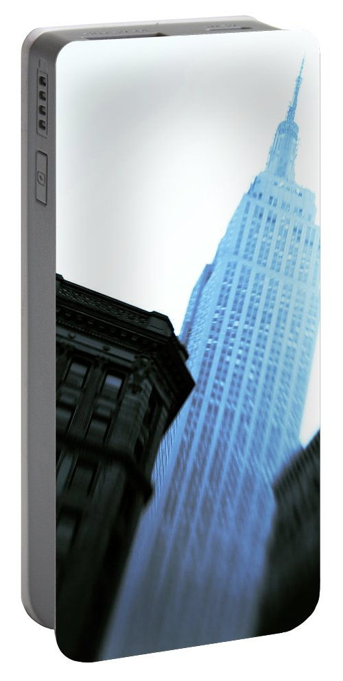 Empire State Building Portable Battery Charger featuring the photograph Empire State Building by Dave Bowman