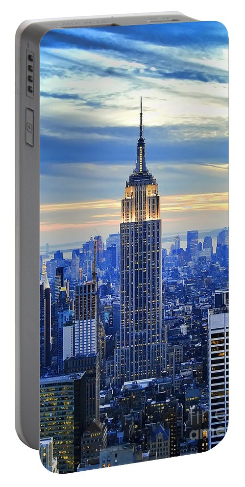 New York City Portable Battery Charger featuring the photograph Empire State Building New York City USA by Sabine Jacobs