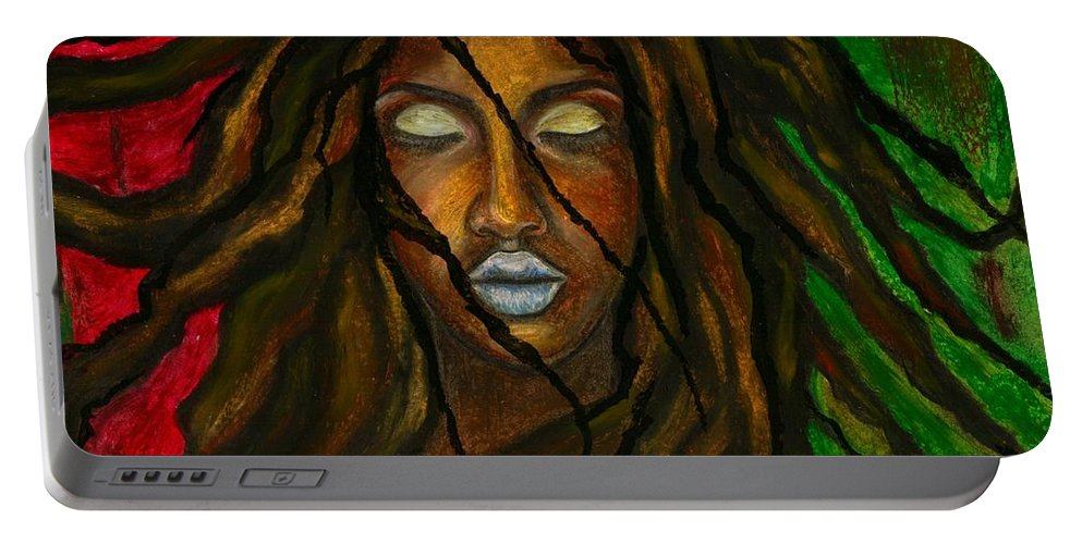 Beautiful Portable Battery Charger featuring the photograph Empress Divine by Artist RiA