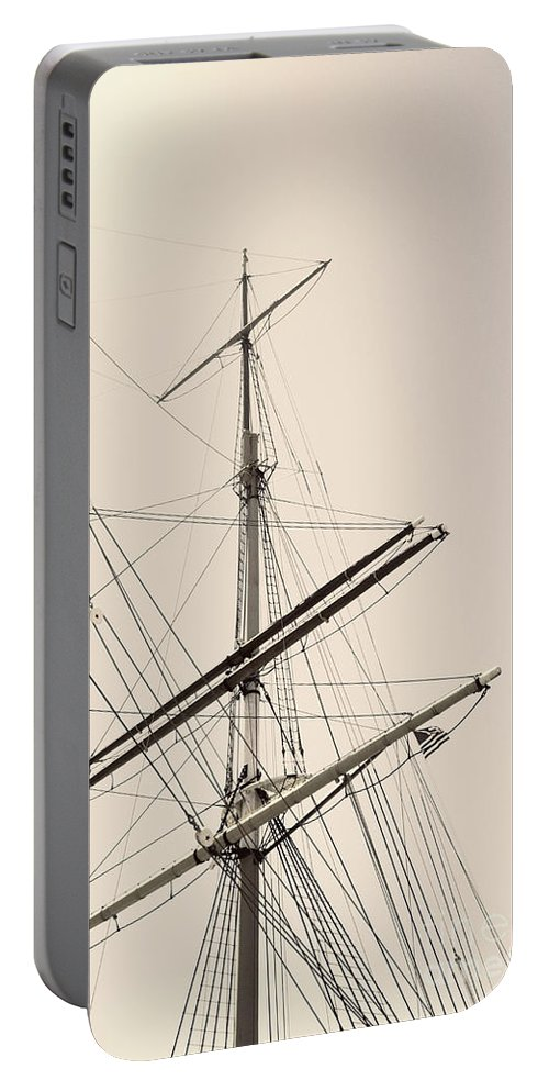 Boat Portable Battery Charger featuring the photograph Empty Sails by Margie Hurwich